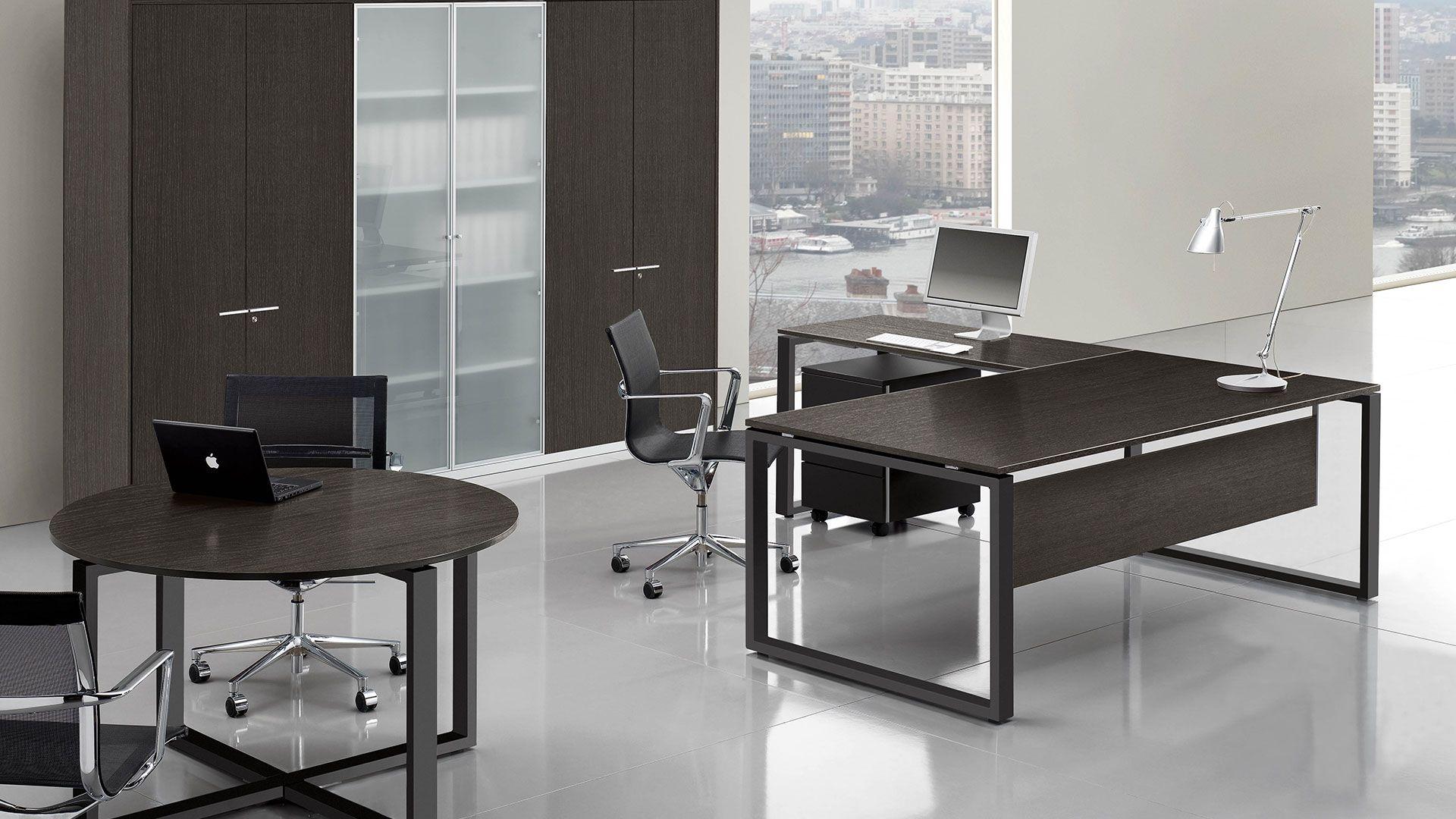 Chefzimmer Chefschreibtisch Chefbuero Schreibtisch 200x100 cm mit ...