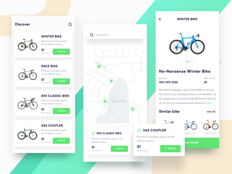 Bike Sharing Ios App Rent Your Bike App App Design Ios App