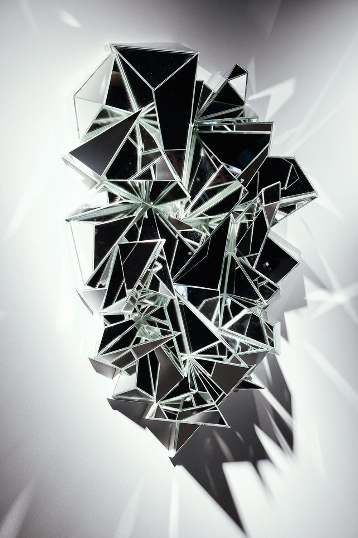 Mathias kiss french artist mirror sculpture wall art installation french artist oracle fox