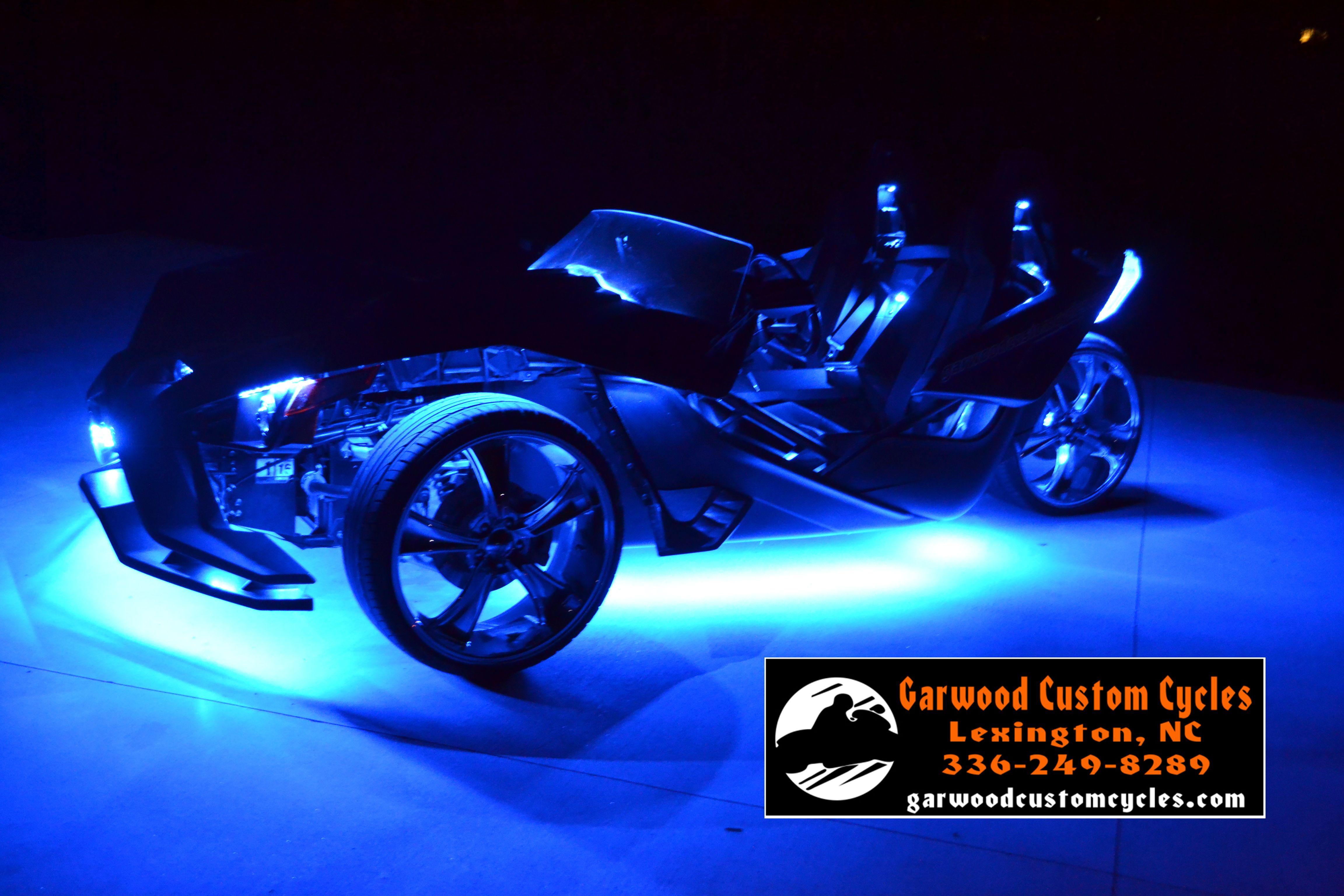 Slingshot Polaris Lightkit Garwood Custom Cycles Offers Ultra Bright Light Kits For Most All Brand Mo Polaris Slingshot Custom Cycles Custom Motorcycle Shop