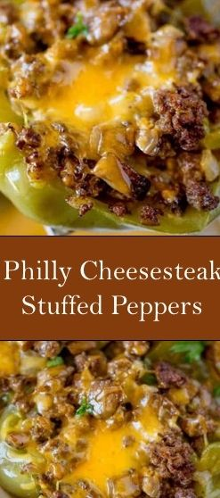 Philly Cheesesteak Stuffed Peppers #Philly #Cheesesteak #Stuffed #Peppers