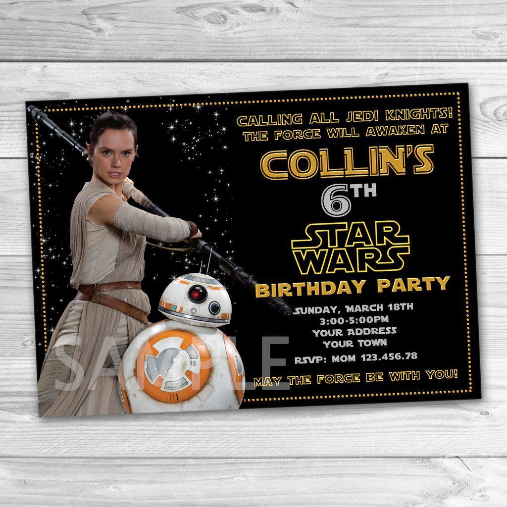 BB8 Party Invitation. Star Wars Invitation. Star Wars Printable ...