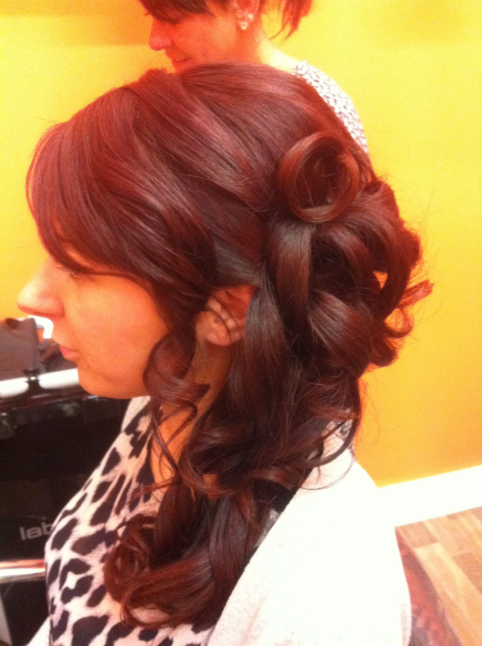 Long hair updo to pinned to one side hairdous pinterest updo