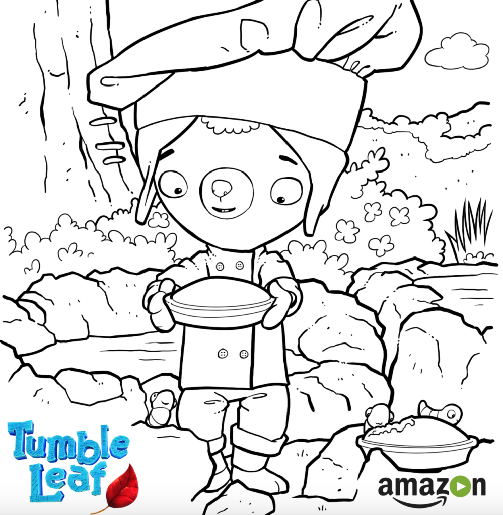 Tumble Leaf Amazon Original Series Leaf Coloring Page Drake S Birthday 3rd Birthday Parties