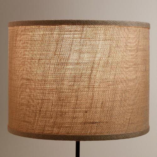 Natural Burlap Drum Table Lamp Shade Lamp Shade Lamp Drum Lampshade