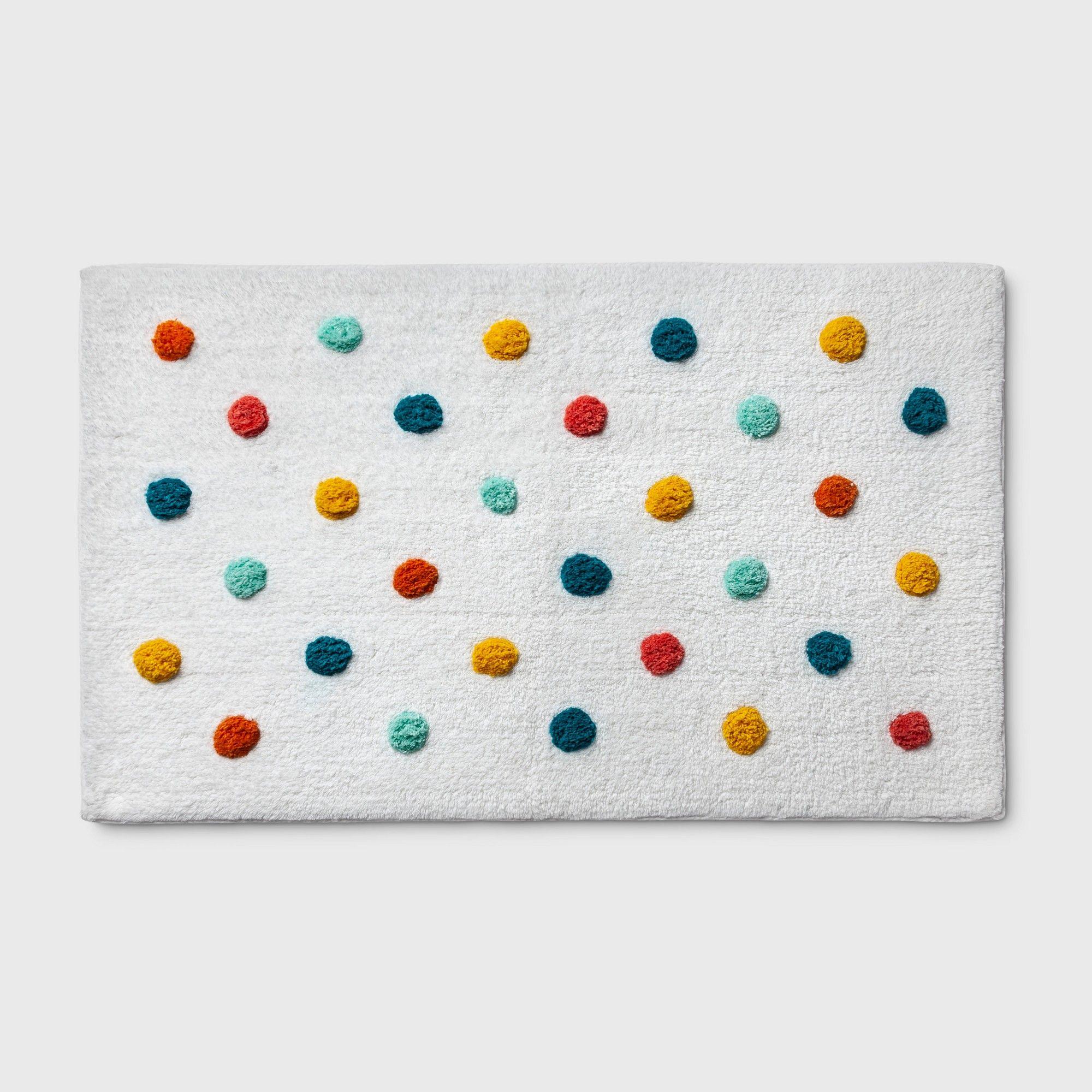 Polka Dot Bath Rug Green Pillowfort Adult Unisex In 2020