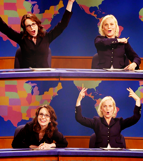 Saturday Night Live Weekend Update Tina Fey et Amy Poehler SNL Action Figure Set