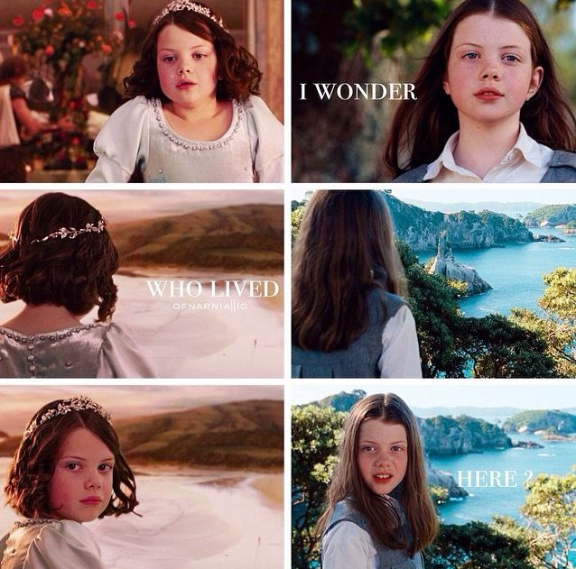 "The Chronicles Of Narnia Prince Caspian Lucy ""I wonder who liv..."