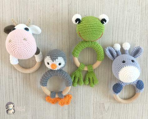 Amigurumis Caballitos A Crochet : Mordedores animalitos a crochet caballito