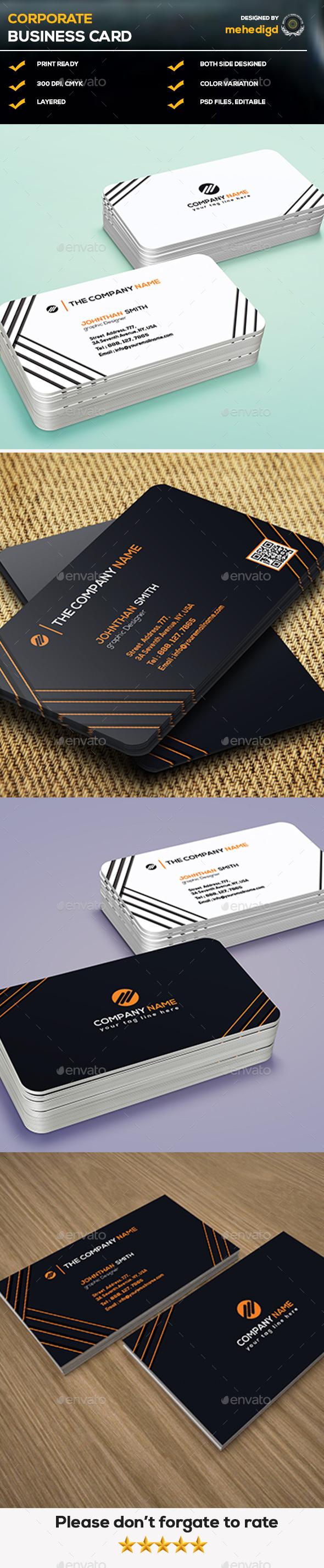 Corporate Business Card 8b Corporate Business Card Corporate Business Cards