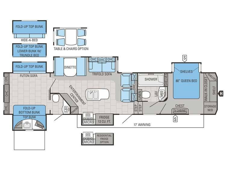 North Point Floor Plan Rv S Fifth Wheel Rv Floor