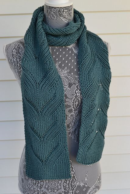 Ravelry Knitandpearlsavons Mock Cable Scarf Knitting Pinterest