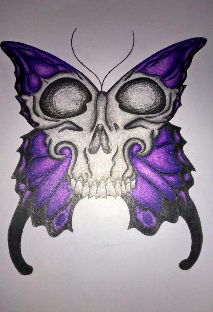 ca02c5a7f Purple Butterfly Skull (Finished) by RinoaFan on DeviantArt | wanta ...