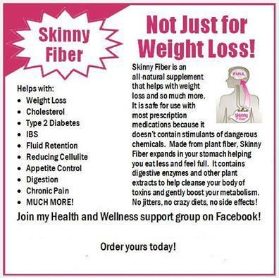 Skinny Fiber helps with so much more then just weight loss! If you are interested check it out at http://victoriadewitt.eatlessfeelfull.com/  feel free to join my weight loss support group on facebook at https://www.facebook.com/groups/getmovingwithvicki/