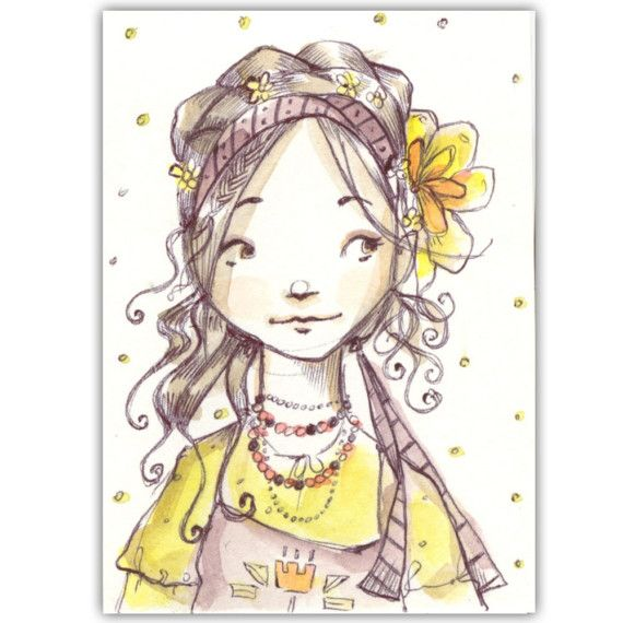 Sara Spelt Without an H Original ACEO by MissAvocado on Etsy - - Abigail Halpin