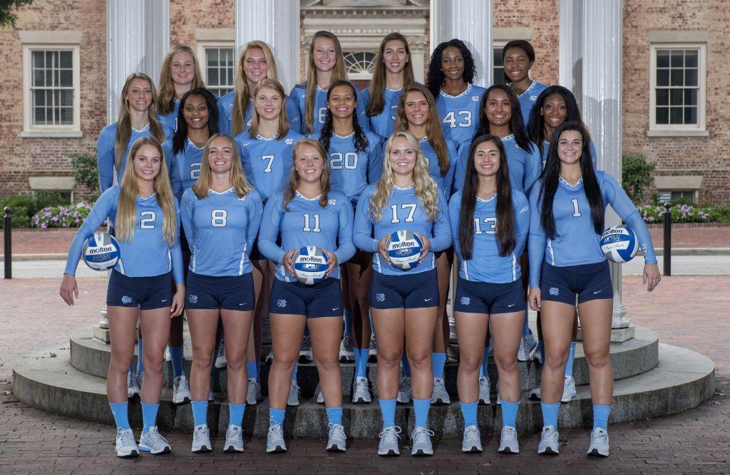 Unc Volleyball Team 2016 Volleyball Volleyball Team Carolina Heels