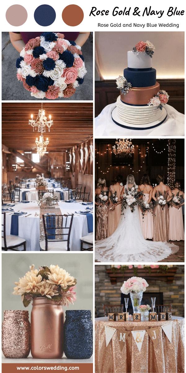 Best 8 Rose Gold And Navy Blue Wedding Color Ideas Rose Gold White Wedding Wedding Rose Gold Theme Rose Gold Wedding