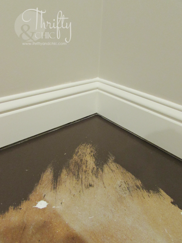 How to paint plywood sub flooring to resemble wood floors for Painting old hardwood floors