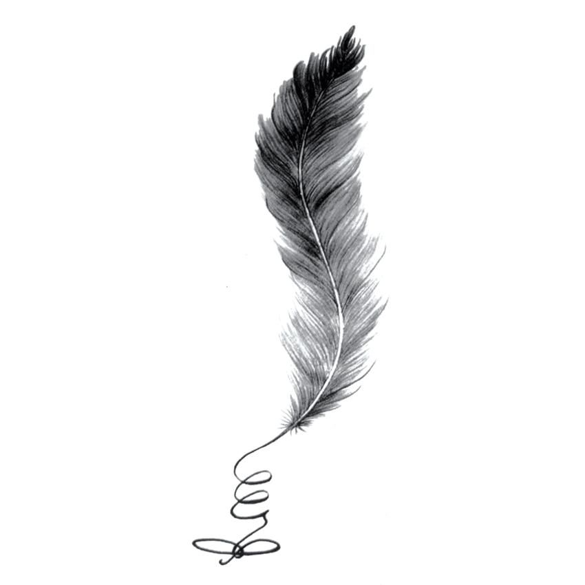 Tattoo Quotes Hawk: Elegant Feather Temporary Tattoo