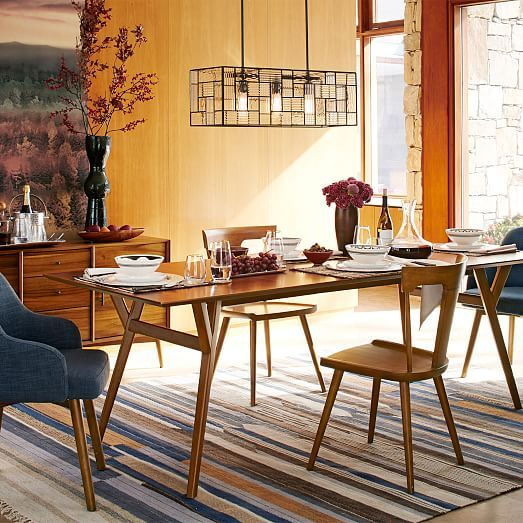 Mid-Century Expandable Dining Table, 39\