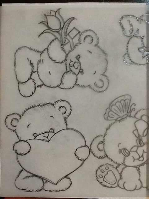 Pin De Yelitza Salas De Rodriguez Em Dibujos Desenho Ursinhos