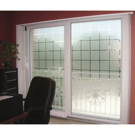 Frosted Window Film  Privacy Etched Glass Sticky Back Plastic Vinyl Glass Tint