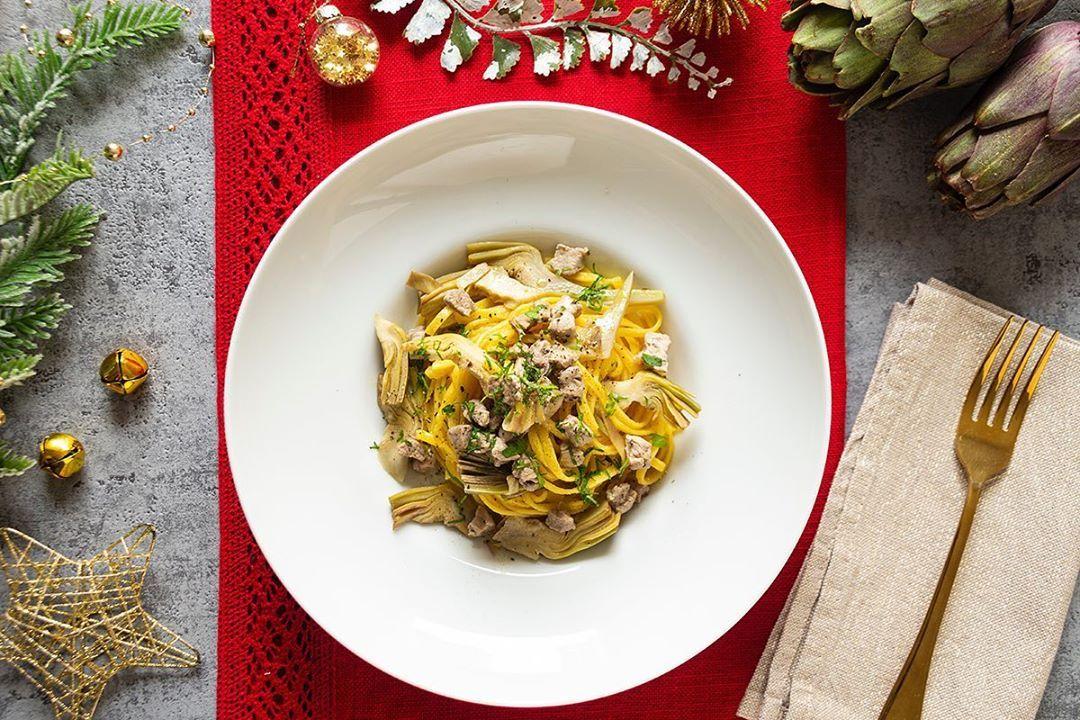 Photo of Recipes of the Festivals Spaghetti alla chitarra with artichokes …