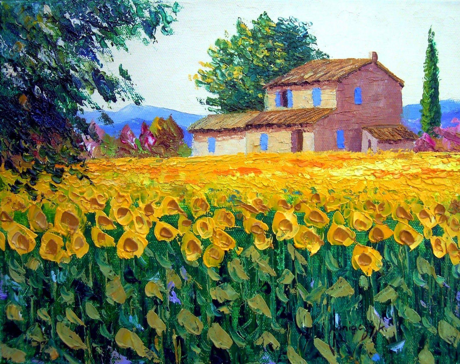Flores En Paisajes Del Campo Pintadas Al Oleo Jean Marc Pintura Paisajistica Pinturas Hermosas Paisajes