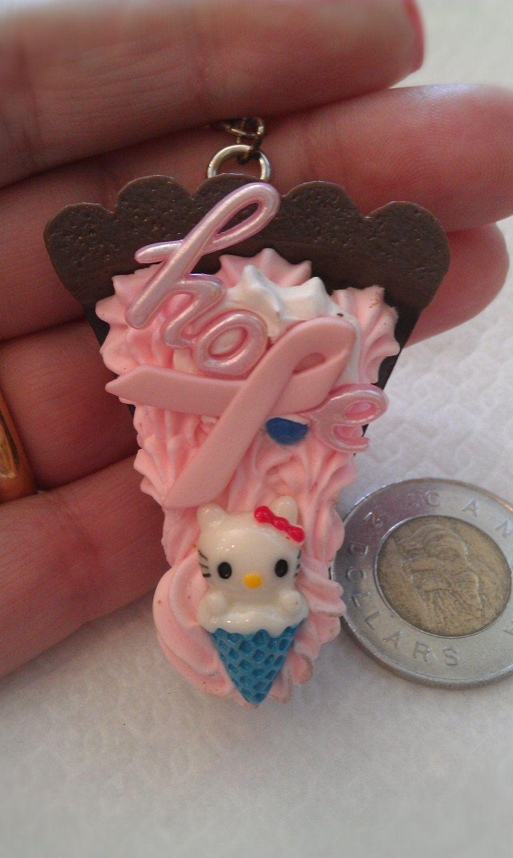 Hello+kitty+Kawaii+keychancell+phone+charm+cake+with+by+josmoon,+$8.00