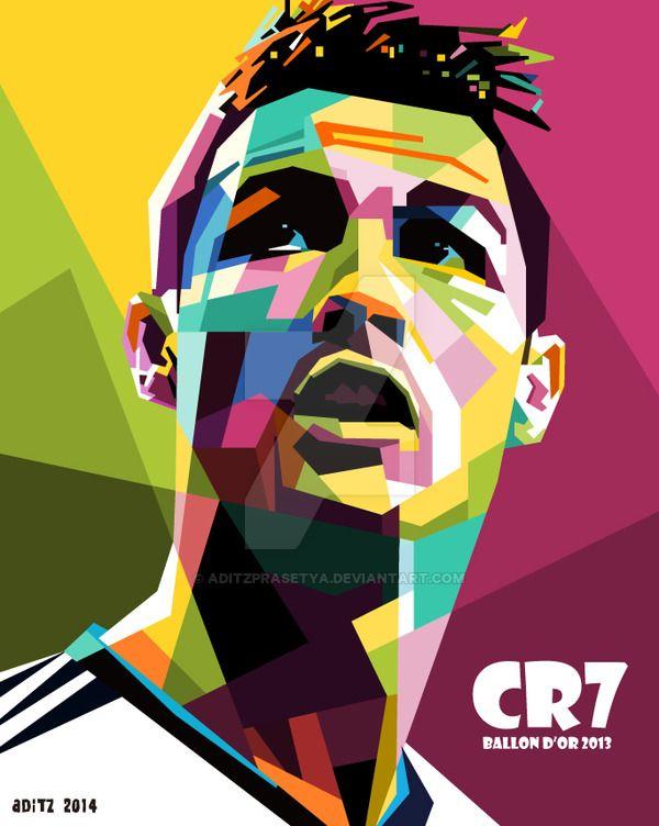 Cristiano Ronaldo in WPAP by aditzprasetya