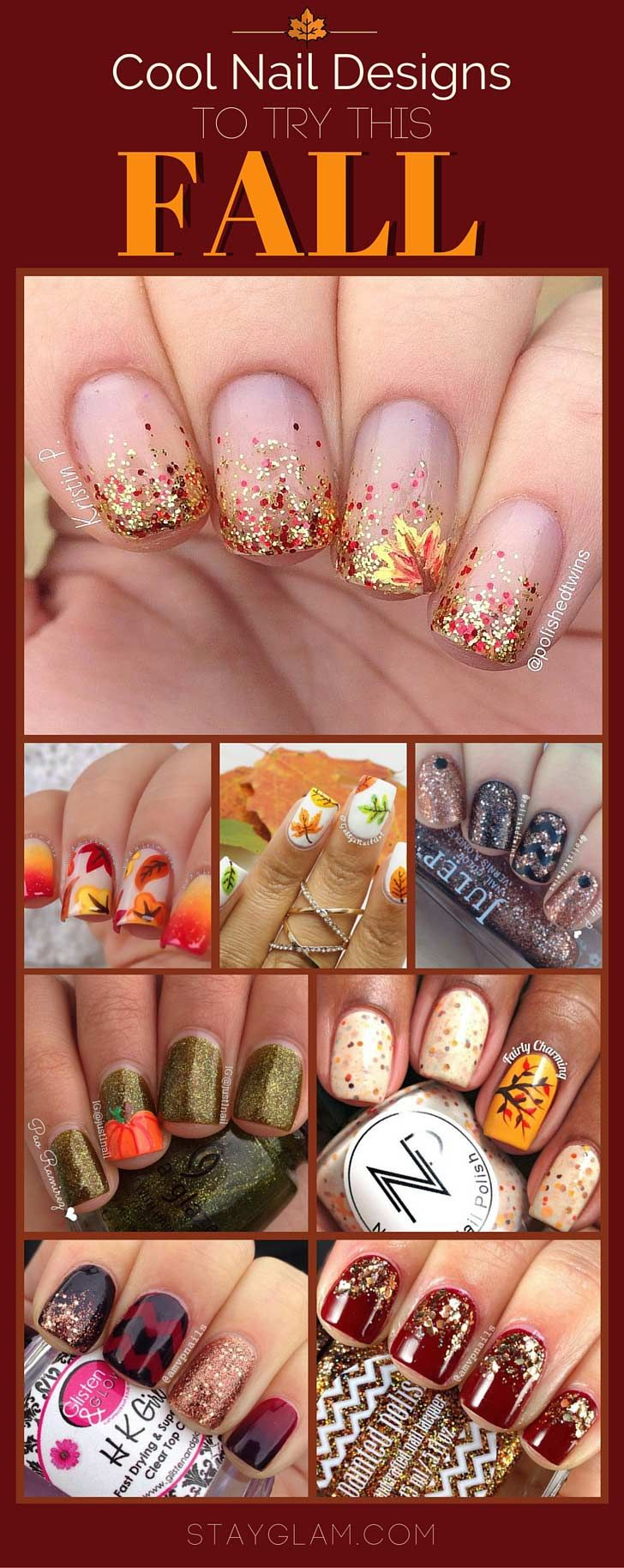 35 Cool Nail Designs to Try This Fall   Fingernägel, Herbst und ...