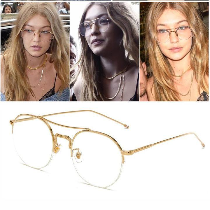 Photo of RBUDDY 2017 gold brillengestelle Vollrand Plain Brillengestell Für Frauen Männer Retro Optische Klare Linse Brillen Computer Gläser