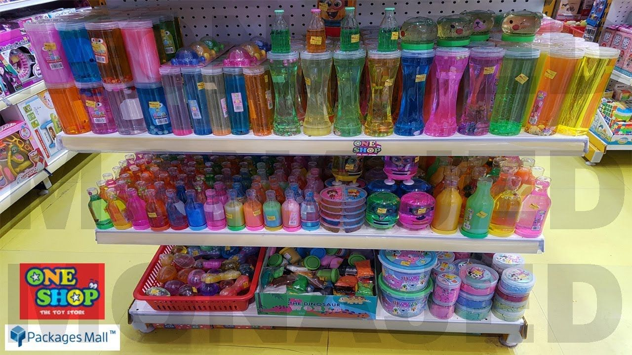 One Shop The Toy Store Slimes In Packages Mall Toy Store Slime Mall