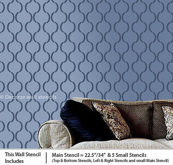 Moroccan Wall Stencils The Perfect DIY Method For Beginners To Create A  Modern And Dramatic Designer