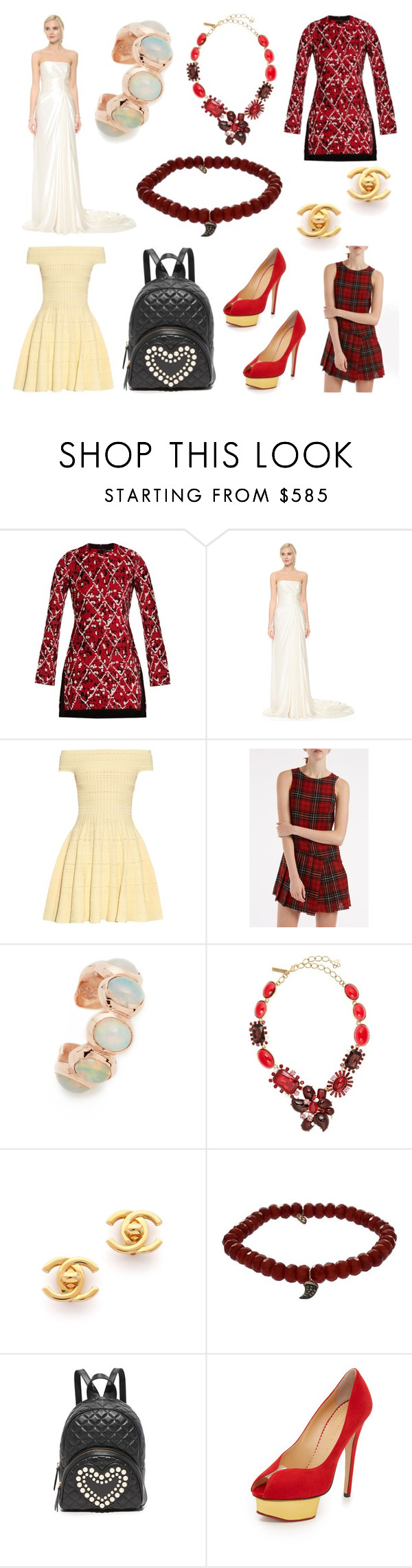 """""""Be yourself.....&&&"""" by cate-jennifer on Polyvore featuring Proenza Schouler, Reem Acra, Alexander McQueen, R13, Jacquie Aiche, Oscar de la Renta, Sydney Evan, Boutique Moschino, Charlotte Olympia and vintage"""