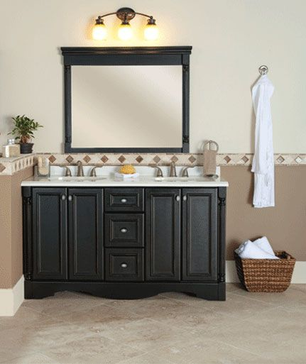 The St Paul Valencia 60in Vanity Cabinet Creates A Bold Statement For Your Master