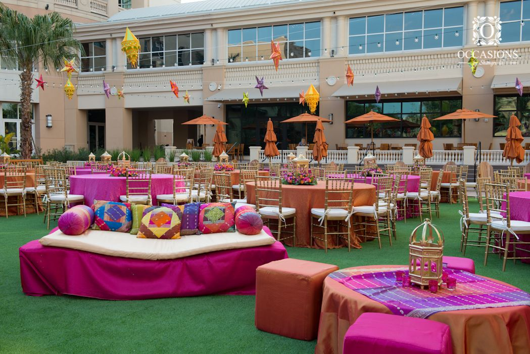 Henna Party Rentals : Sangeet garba mehndi decor occasions by shangri la