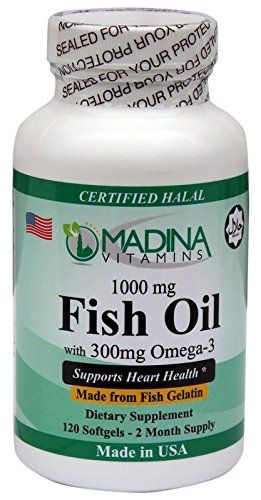 Halal Omega 3 Fish Oil 1000mg 120 Softgels With Fish Gelatin