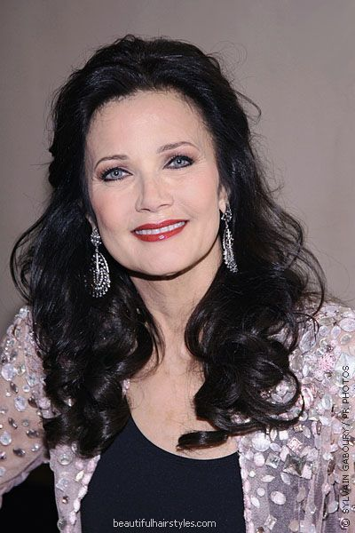 Lynda Carter Today With Long Dark Brown Hairstyle And Sexy -8767