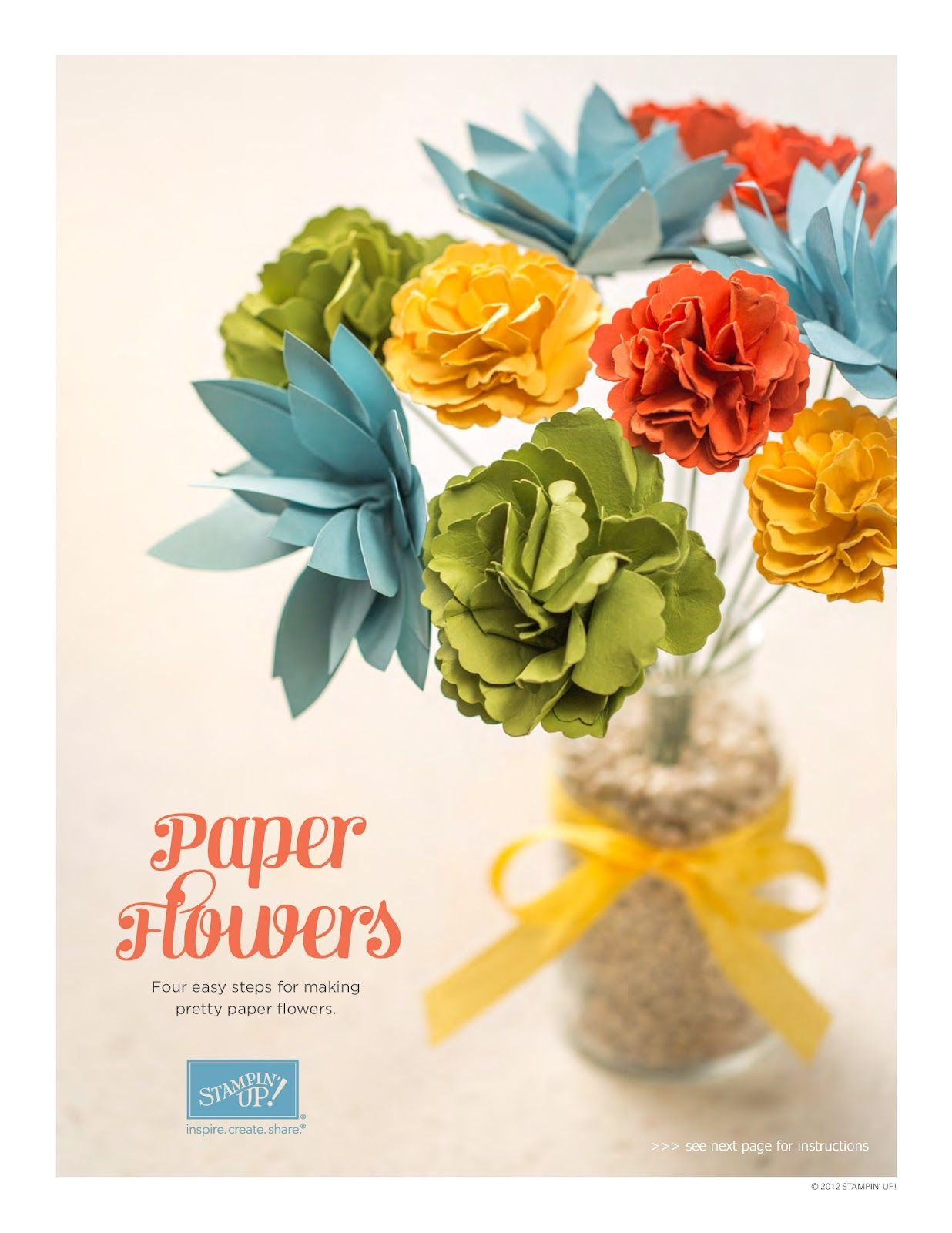 Karenus Angelic Impressions Paper Flowers Free Stampinu Up