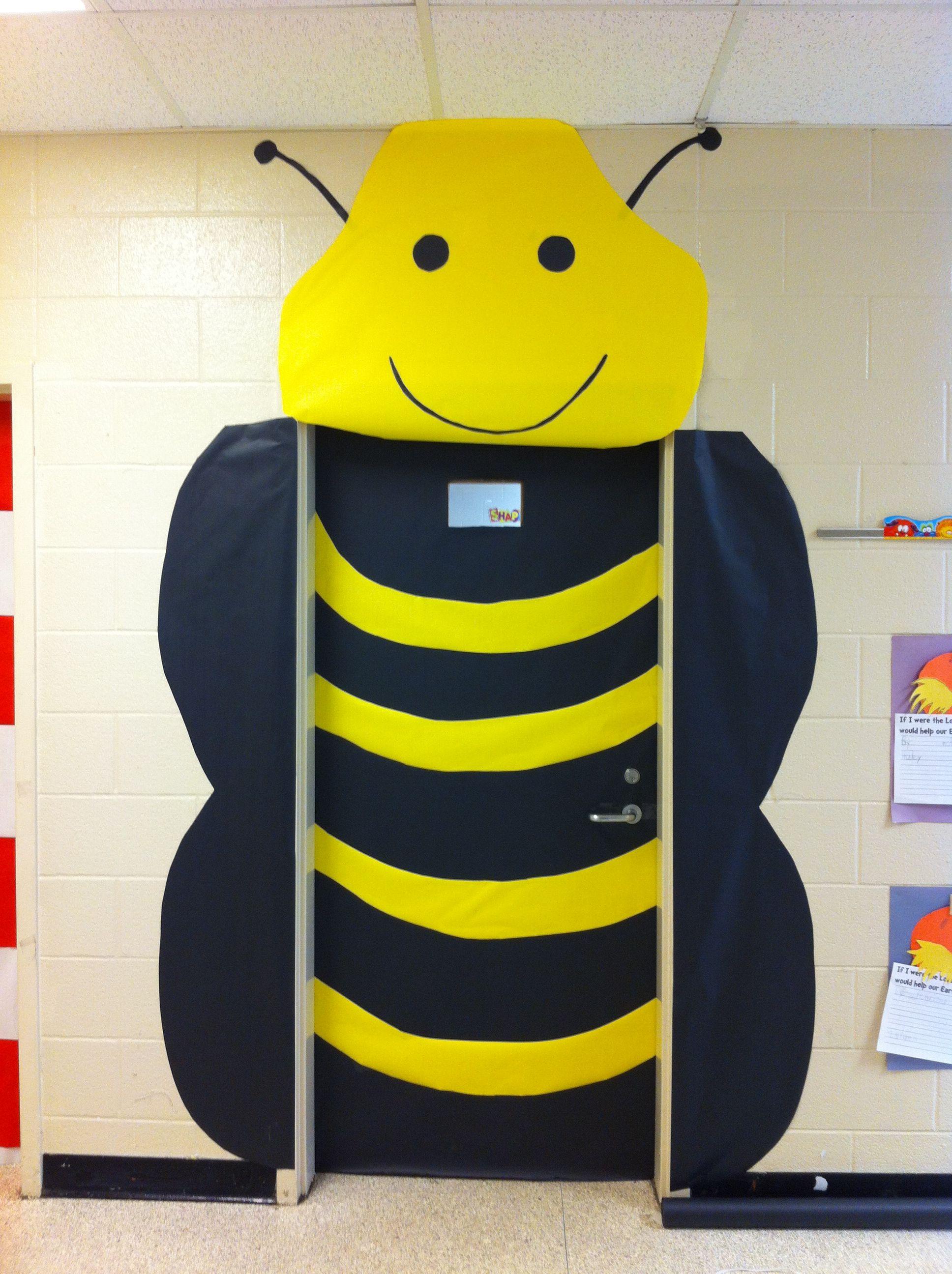 Classroom Decor Bees : Bumblebee classroom door for spring fcat decoration