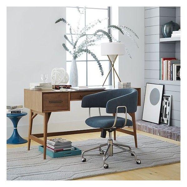 West Elm Mid Century Desk Acorn Legs Work Desks Office