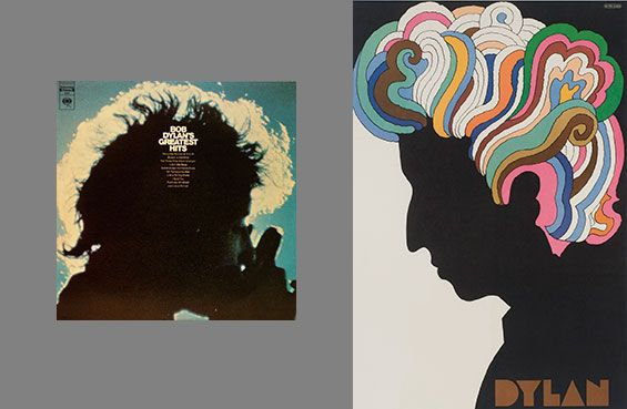 Bob Dylan -- Greatest Hits; Dylan poster by Milton Glaser