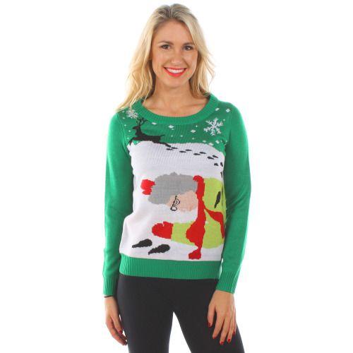 Novelty Christmas Sweaters - Women\u0027s Grandma Got Run Over By A