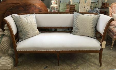 "19th c. Italian banquette, RL upholstery, 64""L x 48""D x 33""H, $4,600."