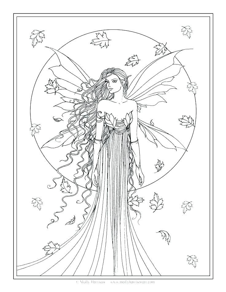 22+ Detailed fairy coloring pages for adults inspirations
