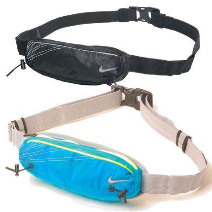 NIKE Black Zip Pocket Running Belt Jogging Waist Pack Pouch Holder Bag Hip Sac