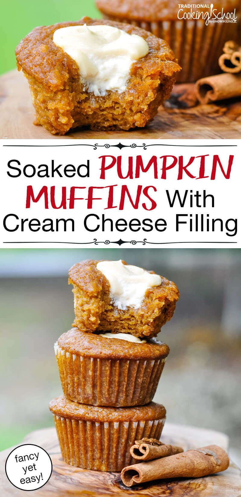 Soaked Pumpkin Cream Cheese Muffins #pumpkinmuffins