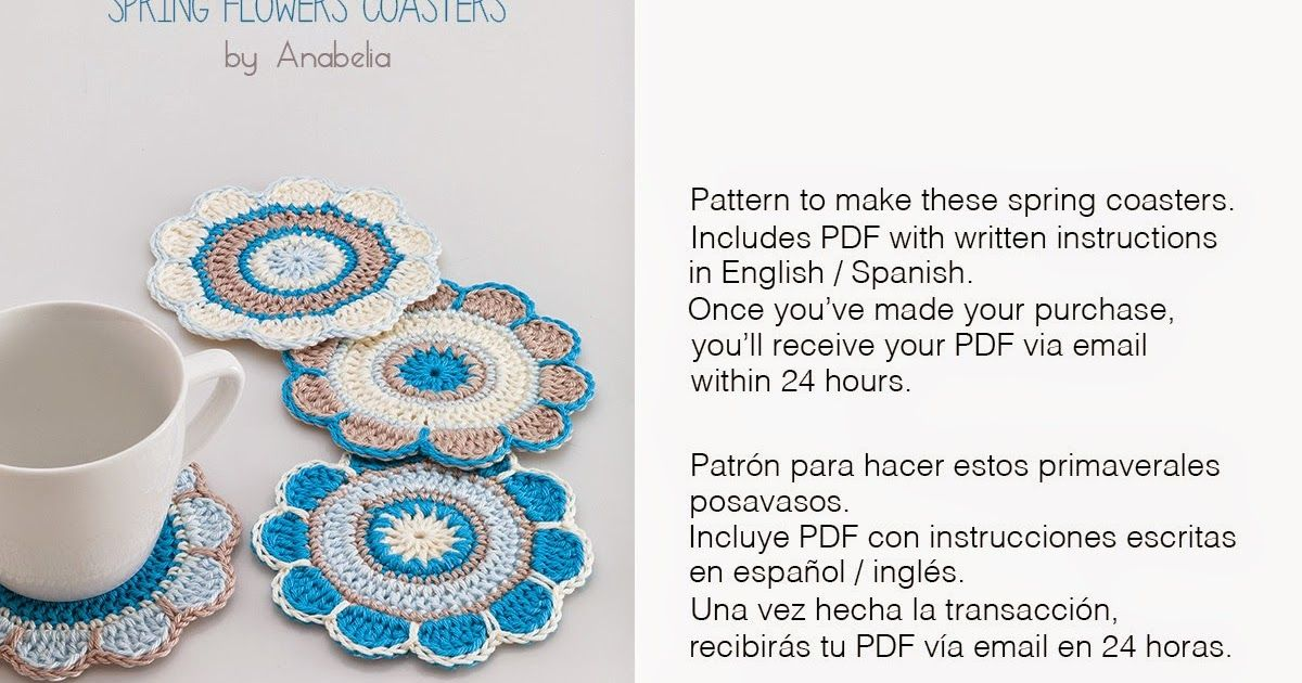 2,50 € ...AND ENJOY YOUR SPRING FLOWERS COASTERS! ......   Pinterest ...