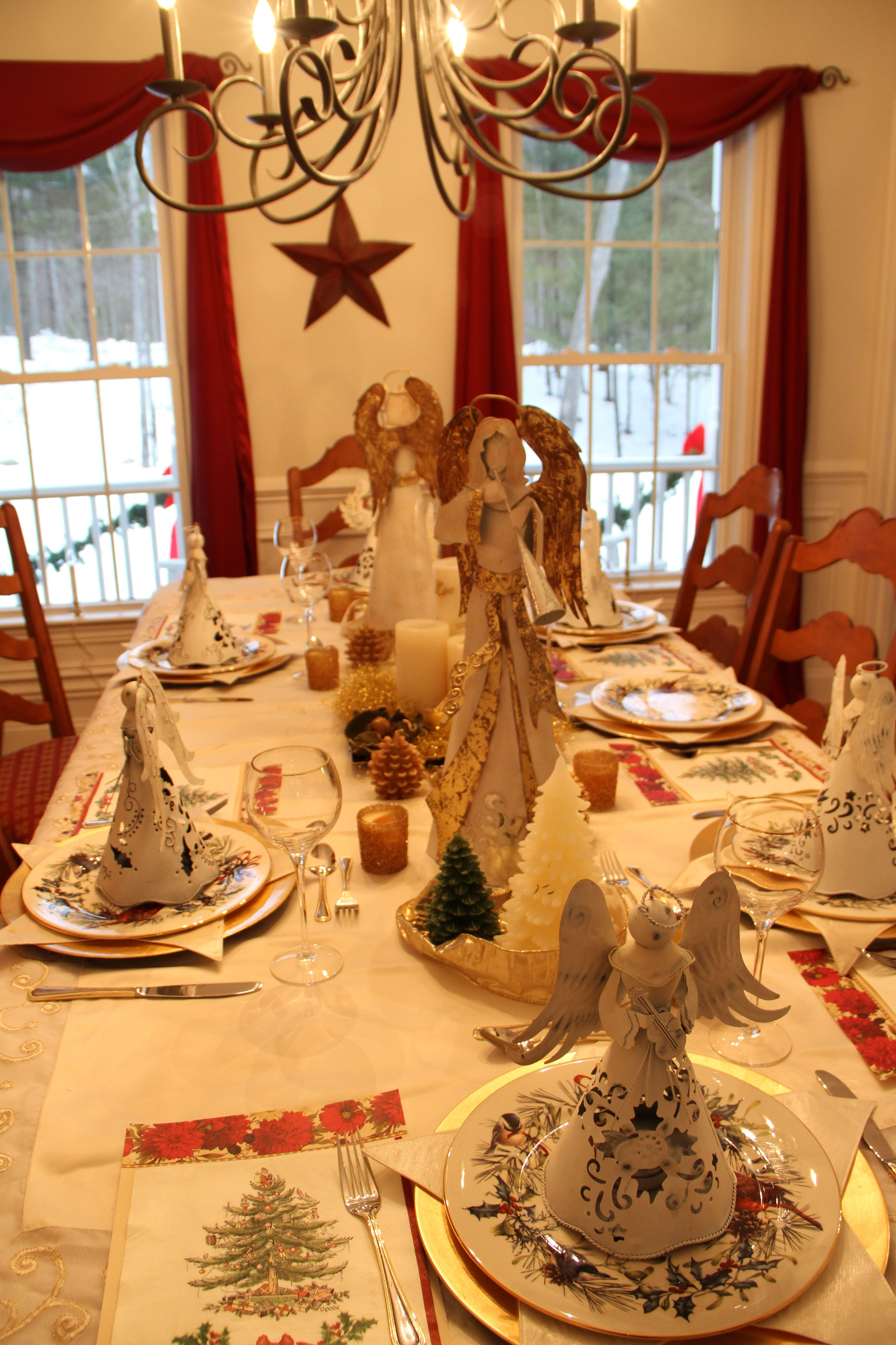 Christmas angels | Table setting & decorations | Pinterest